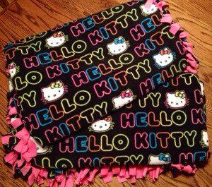 Hello Kitty Fleece Fabric Winter Blanket