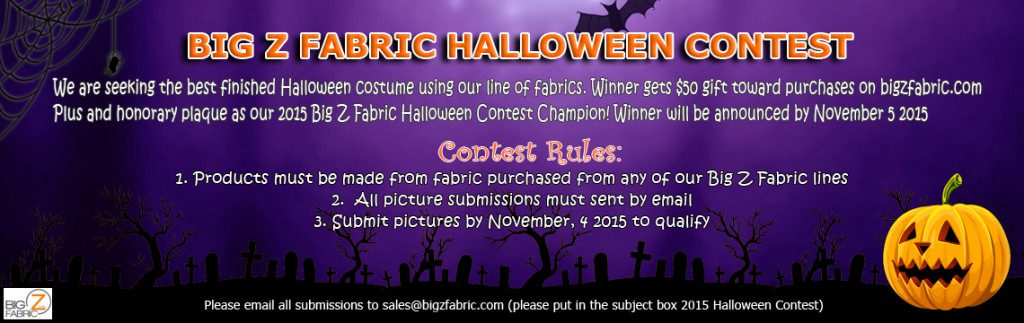 2015 Fleece Fabric Halloween Contest
