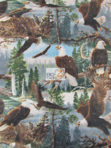 American Bald Eagles Fleece Fabric