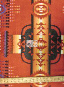 Aztec Indian Navajo Polar Fleece Fabric Red