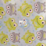 Baby Animal Fleece Fabric Frogs