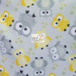 Baby Animal Fleece Fabric Owls