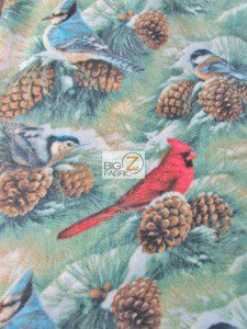 Birds Over The Horizon Fleece Fabric