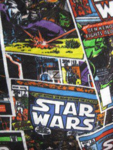 Star Wars Comic Strip Fleece Fabric