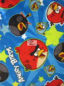 Angry Birds Fleece Fabric Space Stars