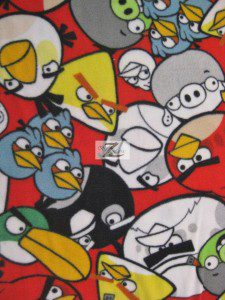 Angry Birds Fleece Fabric Tossed Bunch Of Birds