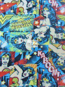 DC Comics Wonder Woman Fleece Fabric
