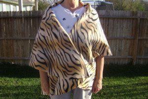 Tiger Fleece Fabric Warm Wrap