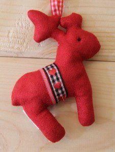 Fleece Fabric Christmas Reindeer Decoration