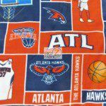 NBA Polar Fleece Fabric Atlanta Hawks