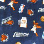 NBA Polar Fleece Fabric Charlotte Bobcats