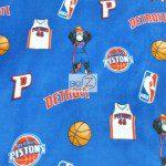 NBA Polar Fleece Fabric Detroit Pistons