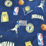 NBA Polar Fleece Fabric Indiana Pacers