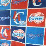 NBA Polar Fleece Fabric Los Angeles Clippers