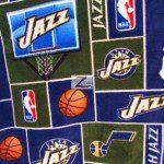 NBA Polar Fleece Fabric Utah Jazz