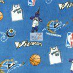 NBA Polar Fleece Fabric Washington Wizards