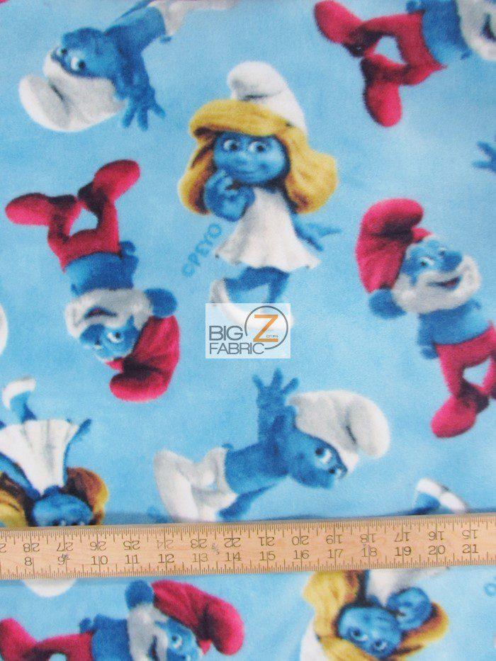 Smurfs the movie fleece fabric wholesale polar fleece fabric for Spaceship fleece fabric