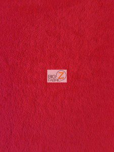 Solid Fleece Fabric Red