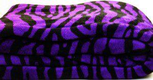 Wholesale Zebra Print Fleece Fabric
