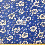 Wholesale Flower Hawaiian Fleece Fabric Blue