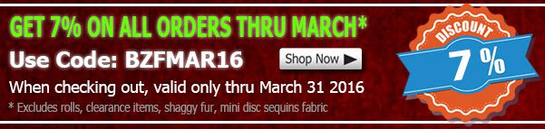 March 2016 Fleece Fabric Discount