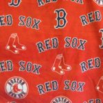 MLB Polar Fleece Fabric Boston Red Sox