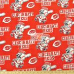 MLB Polar Fleece Fabric Cincinnati Reds