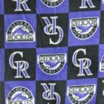 MLB Polar Fleece Fabric Colorado Rockies