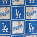 MLB Polar Fleece Fabric Los Angeles Dodgers