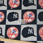 MLB Polar Fleece Fabric New York Yankees