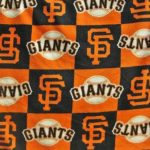 MLB Polar Fleece Fabric San Francisco Giants