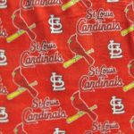 MLB Polar Fleece Fabric St Louis Cardinals