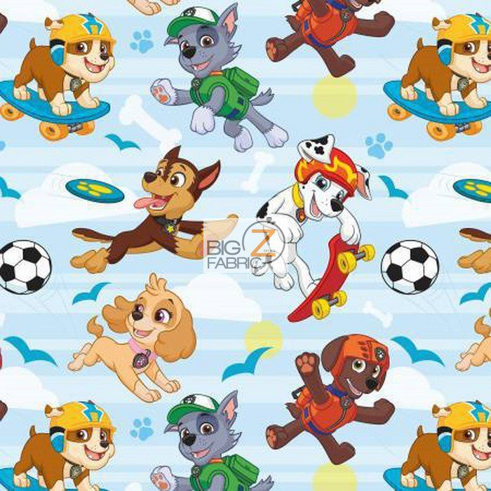 Licensed PAW Patrol Pup Park Fleece Fabric