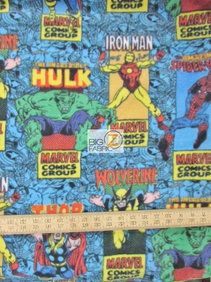 Marvel Comics Posters Polar Fleece Fabric