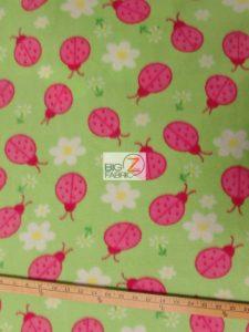 Ladybugs Fleece Fabric Roll