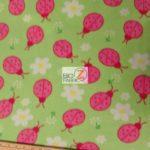 Wholesale Ladybugs Fleece Fabric Lime