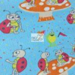 Wholesale Ladybugs Fleece Fabric Mushroom
