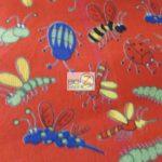 Wholesale Ladybugs Fleece Fabric The Insect Family