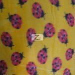 Wholesale Ladybugs Fleece Fabric Yellow