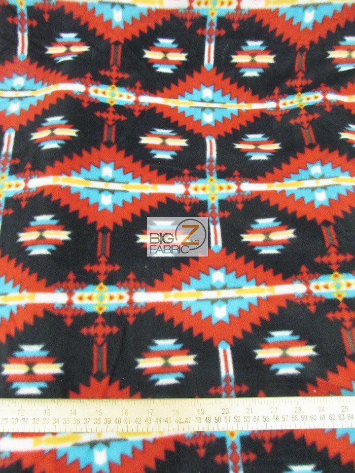 Aztec Badlands Fleece Fabric By Baum Textile Mills
