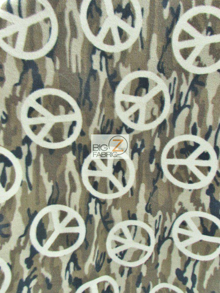 Peace Camouflage Polar Fleece Fabric