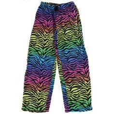 Rainbow Zebra Fleece Lounge Pants