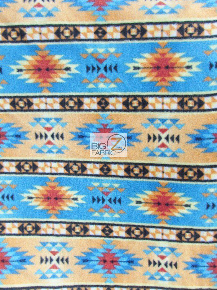 Inca Symbols Polar Fleece Fabric