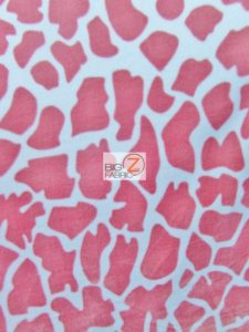 Baby Style Polar Fleece Fabric Giraffe Skin