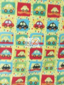 Baby Style Polar Fleece Fabric Taxi Cab Transportation