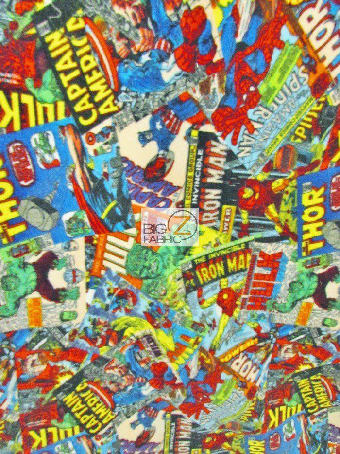 Marvel Heroes Comic Fury Cover Art Fleece Fabric