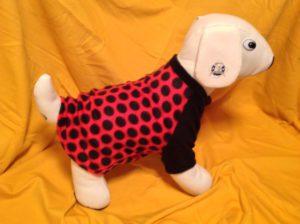 Polka Dot Fleece Dog Shirt