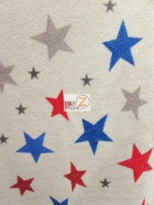 4th Of July Stars Polar Fleece Fabric