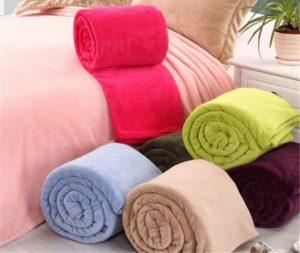 Soft Throw Fleece Fabric Blanket