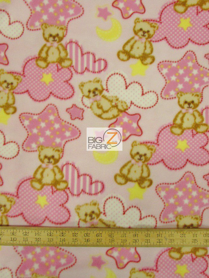 Baby Teddy Bear Pink Polar Fleece Fabric